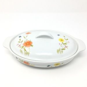 Country Flowers by Andrea Oval Casserole Dish 9230